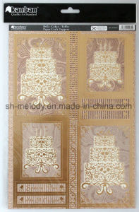 Exiqusite Foil-Printing Paper Craft Toppers /Paper Embellishments pictures & photos