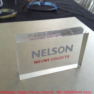 Square Shape Customize Clear Office Gift Crystal Souvenir pictures & photos