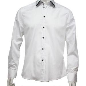 Men′s Shirt with Tape and Special Collar (HD0003)