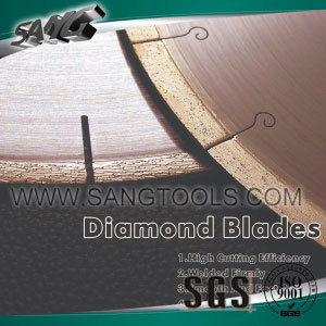 Edge Cutting Slabs Diamond Saw Blades Granite/Sandstone/Limestone pictures & photos