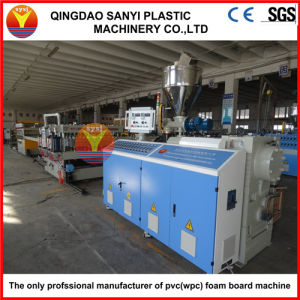 CE Certified Automatic WPC/PVC Plastic Recycled Construction/Door/Floor/Furniture/Advertising Crust Foam Sheet Machine pictures & photos