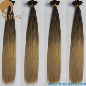 Brazilian Virgin Human Keratin Ombre Hair Extension7/14# pictures & photos