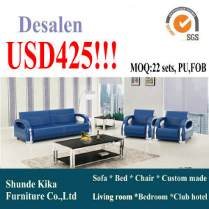 Ciff Blue Modern Office Sofa (8556) pictures & photos
