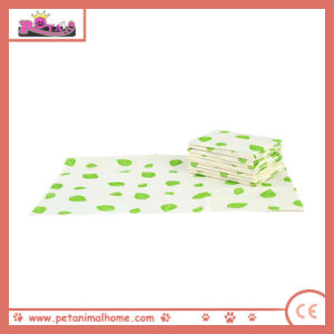 Super Absorbent Disposable Printed Pet Pad Green Leaves pictures & photos