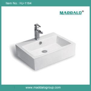 Ceramic Sink, Rectangular Bathroom Sinks (HJ-1164)