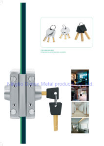 Dimon Sliding Glass Door Lock Double Door Double Cylinder Central Lock with Knob (DM-DS 120-2) pictures & photos