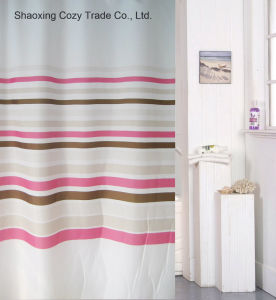 Hot Sale Simple Design Polyester Shower Curtain pictures & photos