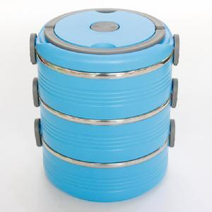 3-Layer Blue Insulation Lunch Box pictures & photos