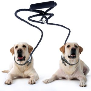 Dual Double Dog Leash No Tangle W Soft Handle for Two Smallmedium Dogs pictures & photos