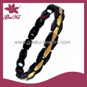 Black Plated Stainless Steel Bracelet for Sale (2015 STB-155)