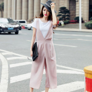 2016 Women Casual Palazzo High Waist Career Wide Leg Trousers Loose Pants Wholesale pictures & photos