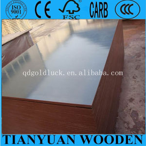 1250*2500mm Black Film Faced Plywood Poplar Core WBP Glue pictures & photos