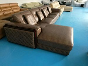 L Shape Leather Furniture, America Sofa, Real Leather Sofa (659) pictures & photos