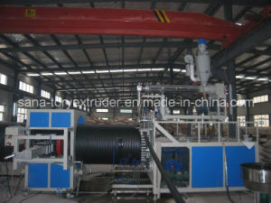 Plastic Machine PVC/PE Double Wall Corrugated Pipe Extrusion Production Line pictures & photos