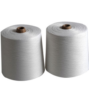 40s/2 100% Spun Polyester Sewing Thread Raw White pictures & photos