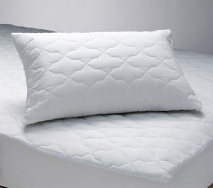 Quilted White Cotton Pillow