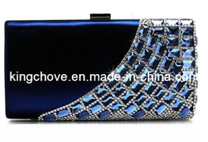 Navy Satin with Diamond Fashion Evening Bag / Fashion Bag (KCE01 navy) pictures & photos