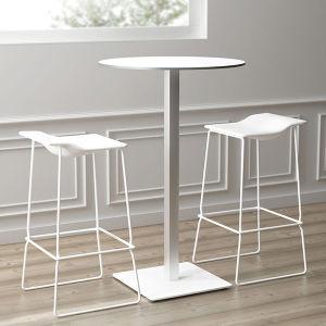 Uispair Modern 100% Steel Round Office Home Hotel Living Dining Room Bedroom Furniture Coffee Table