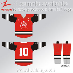 Healong Screen Printing Fully Sublimated Ice Hockey Jerseys Knitted pictures & photos