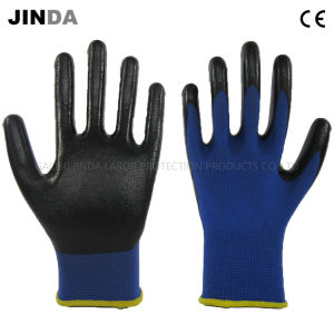 Nitrile Coated Industrial Labor Protective Safety Gloves (NS005) pictures & photos