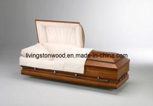 American Style Solid Wood Casket (Earthtone)