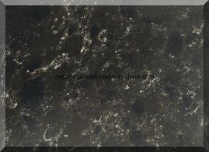 Black Color Quartz Stone Big Slabs Artificial Marble Counter Tops Artificial Quartz with Cheap Price pictures & photos