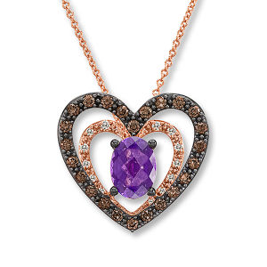 Hot Sales Double Heart Pendants 925 Silver Jewelry Gemstone pictures & photos