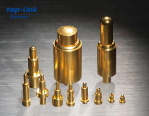 Pogo Pin Connector for Electronics, Gold Plated/Nickel Surface, RoHS Compliant