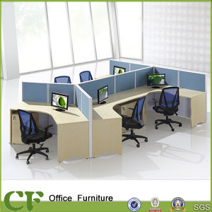 Easy Assembling 5 Seater Wooden Office Cubicle pictures & photos