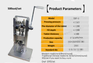 Small Size Simple Pill Making Machine Hand Tablet Press Machine pictures & photos