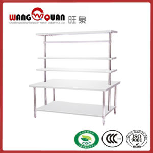 Multiple 2 Tier Stainless Steel Work Table with Multifunctional Top Rack pictures & photos