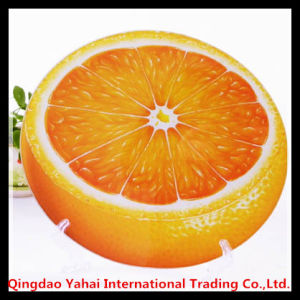 4mm Fruit Shaped Tempered Glass Placemat with Decal Pattern pictures & photos
