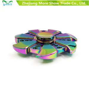 Rainbow Colors Metal Alloy EDC Hand Fidget Spinner High Speed Focus Toy pictures & photos