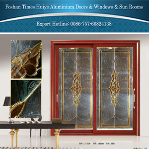 1.0mm~2.0mm Aluminium Hanging Door with Inlaid (Mosaic) Glasses pictures & photos