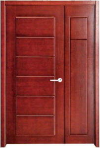 Simple Exterior Carved Pine Wood Veneer Main Door Design Entry Door pictures & photos