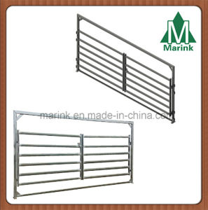 6 Bar Oval Rail Inner Double Entry Cattle Yard Gate pictures & photos