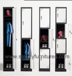 Steel 4 Doors Wardrobe Closet pictures & photos