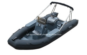 Aqualand 18feet 5.4m 10persons Rigid Inflatable Boat/ Patrol Boats (RIB535A) pictures & photos