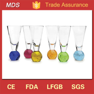 Professional Wholesale Colored Ball Bottom Shot Glass Set pictures & photos
