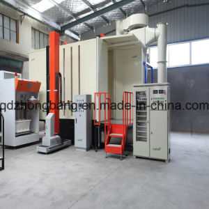 Quick Color Change Multi-Cyclone &Filter Recovery Powder Coating Booth pictures & photos