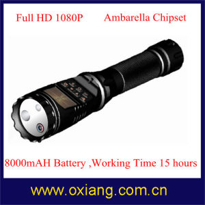 2015 Multifunctional 1080P Police Law Enforcement Flashlight DVR Support English/Russian pictures & photos