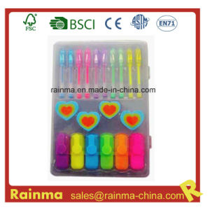 Stationery Set with Mini Highlighter pictures & photos