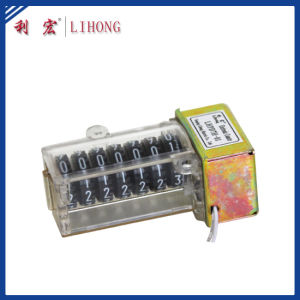 7 Black Wheels High Quality Energy Meter Counter Manufacturer (LHPD7H-01B)