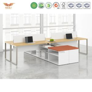 New Style Melamine Office Workstation Desk with L Shape Return pictures & photos