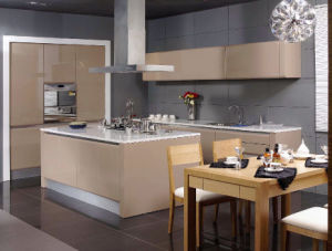 High Gloss Custom Made Kitchen Cabinet Agk-077 pictures & photos