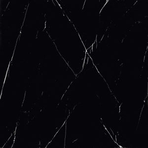 Polished Black Marquina Marble Tile