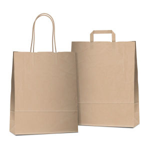 Brown Kraft Shopping Paper Gift Bags From Gift Packing Factory (FLP-8950) pictures & photos