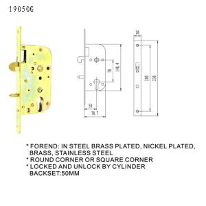 EU Door Lock Body Mortise Lock pictures & photos