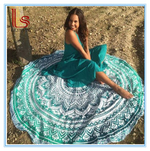 Wholesale Round Chiffon Beach Towel Mats pictures & photos