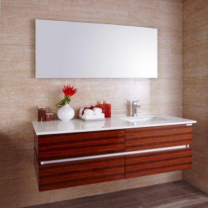 Oppein Brazil Acid Wood Veneer High Gloss Bathroom Cabinet (OP14-014) pictures & photos